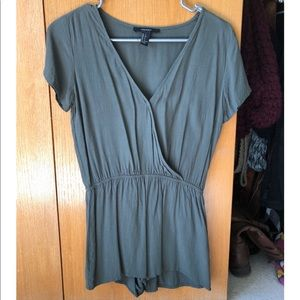 Olive green romper from Forever 21